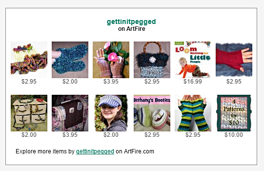 About me gettin it peggedloom knitters clique for a limited time find special purchase book pattern bundles and signed copies of loom knitting for little people available at the link below fandeluxe Choice Image