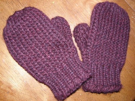 As promised…here is the pattern for cozy, easy to knit, one piece Mittens!