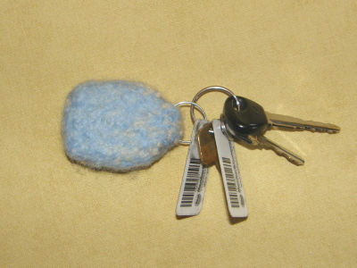 Felted Key Fob…back