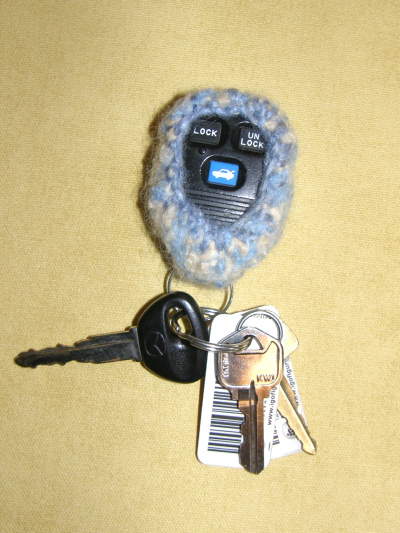 Felted Key Fob~