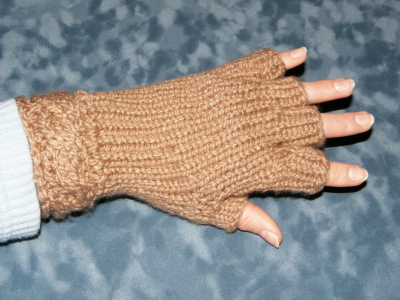 Half Fingered CableMitts!