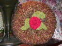 My Homespun Rosette Pillow...pattern not yet released.