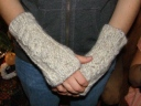 Emily's (Jamie's) Mitts...pattern found in How to Knit Cables on Looms, by Isela Phelps.