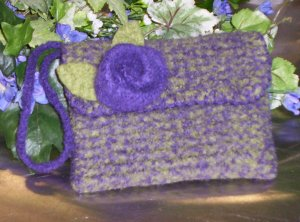 My Felted Rosette Handbag...you can find this in the Freebies.