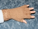 Half Fingered Mitts w/Cable Cuff...a hybrid of 2 loom LALs by Isela Phelps and Karen Gielen, and a few of my own ideas mixed in. ;)