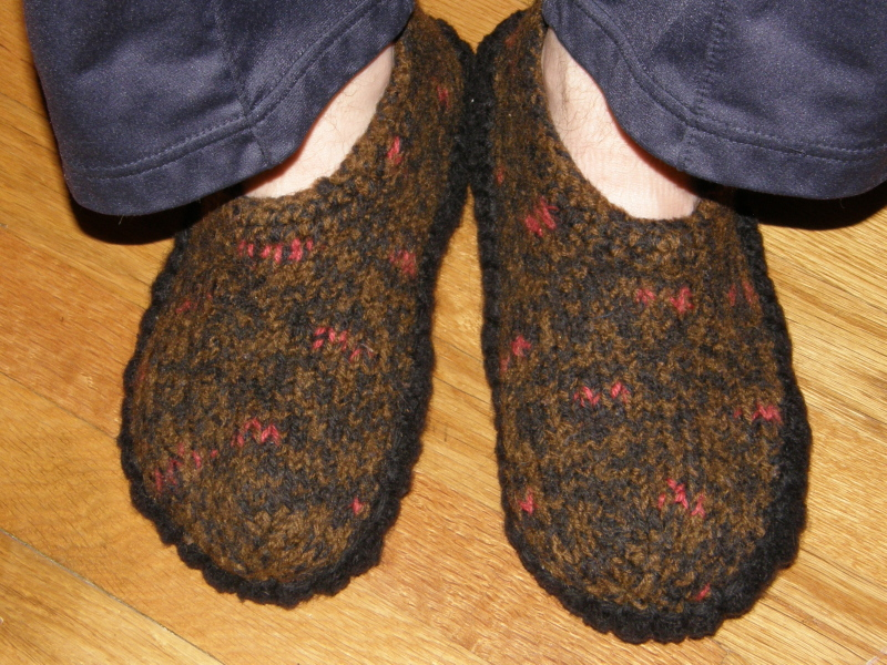 Felted Slipper Soles!  pattern can be found in the Freebies :)