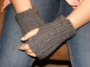 My Meg's Mitts...tutorial can be found on the Twisted Stitches page.