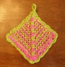 Mitered Square Potholder~  Pattern not yet published