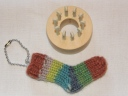 Tiny Sock with sock blocker from Decor Accents~ Pattern not yet released...