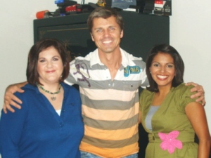 Isela, Producer Beau and myself...