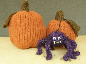 Wooly Felted Pumpkins with Spencer the Spider