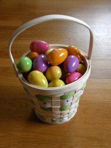 ...of course there was a surprise goodie filled egg hunt on Easter morn!