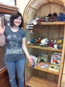 Emily on our first day at Pip & Lolas...looking very excited! :)