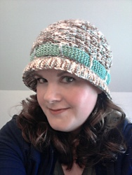 Market Hat modeled by Bethany sm