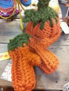 Baby Pumpkin' Head and Toddler Mittens