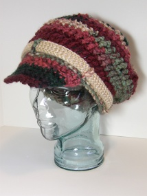 Crocheted Newsboy Cap