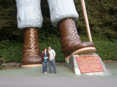 Paul's Big Feet, haha! Redwoods, CA 2012