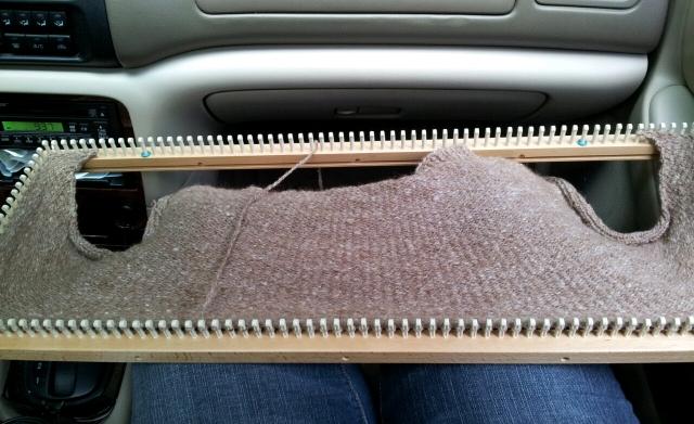 Evan's Sweater, front side progress