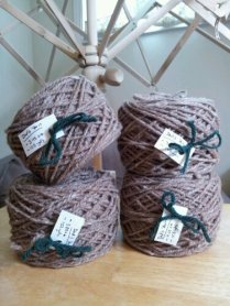 to lots of balls of this lovely yarn...