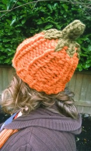 Slouchy Pumpkin Hat side