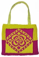 Loom Knit Garden Tote